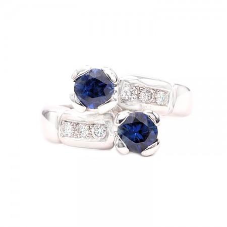 anillos de zafiro tu y yo