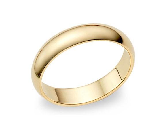 Alianzas Boda Oro Amarillo - 3,5 mm media caña B4