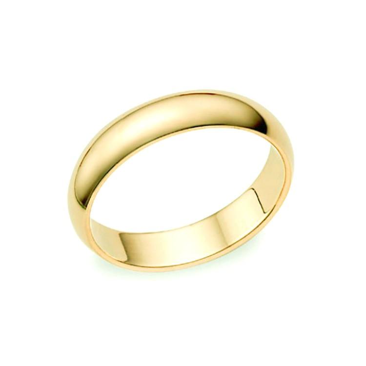 Alianzas Boda Oro Amarillo 3,5 mm media caña B4