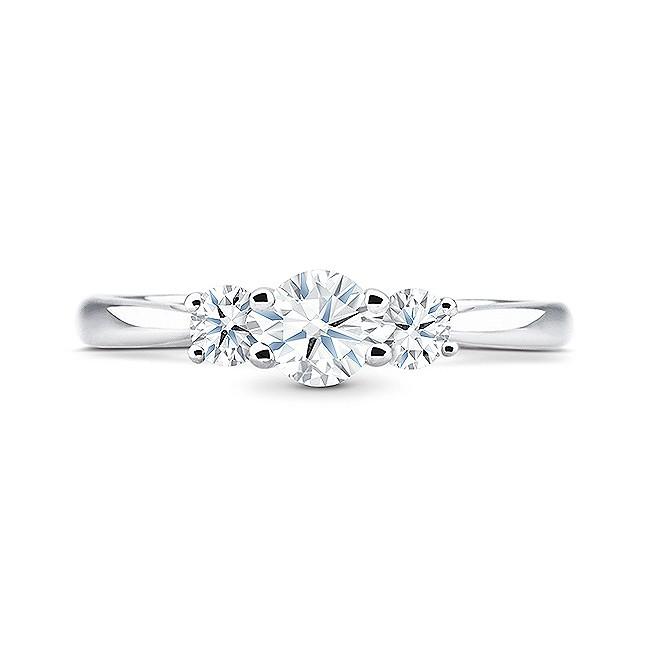 "Anillo con tres diamantes en oro 18K muy elegante ""Tetuan"""