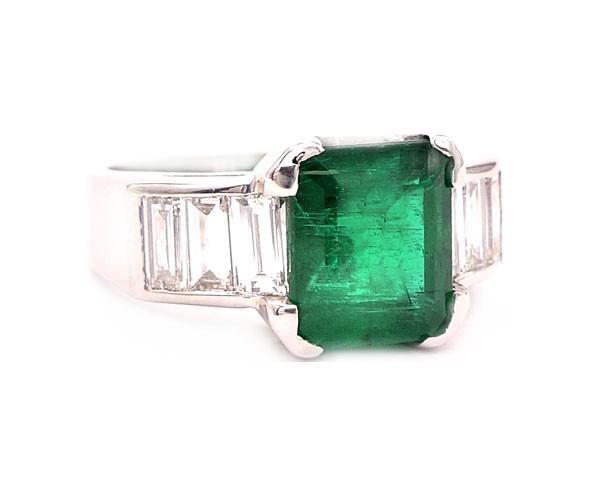 anillos de pedida esmeralda
