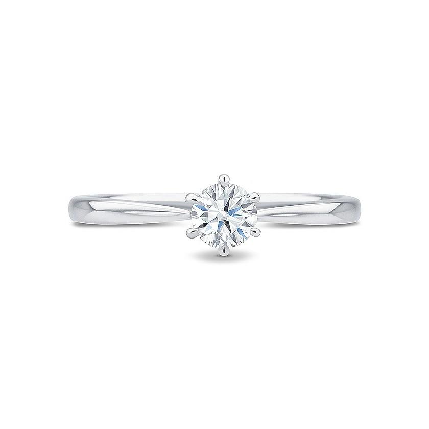 "Solitario diamante 0.25 cts. oro blanco de estilo clásico ""Firenze"""