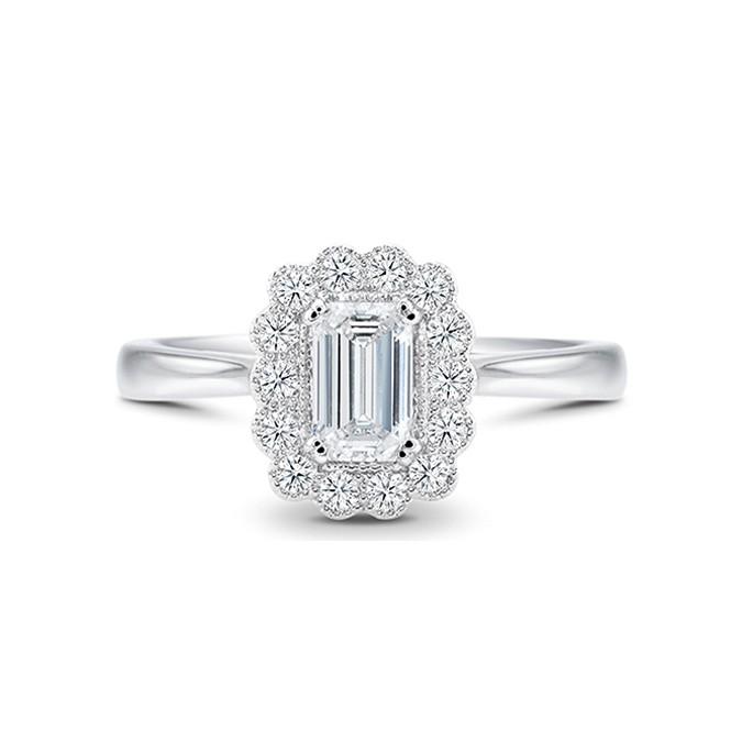 "Anillo ""Kaori"" oro blanco y diamante"