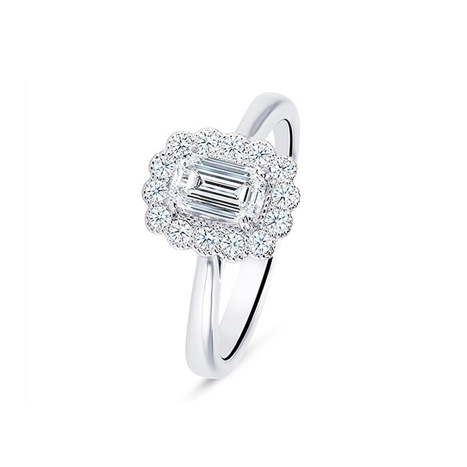 """Anillo """"Kaori"""" en oro blanco 18k y diamantes"""
