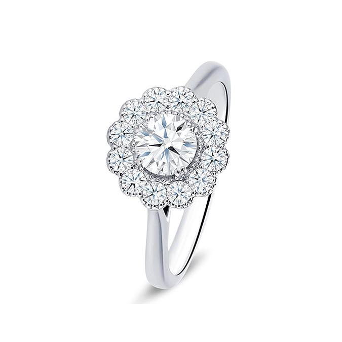 """Anillo """"Luz"""" oro 18k y diamantes"""