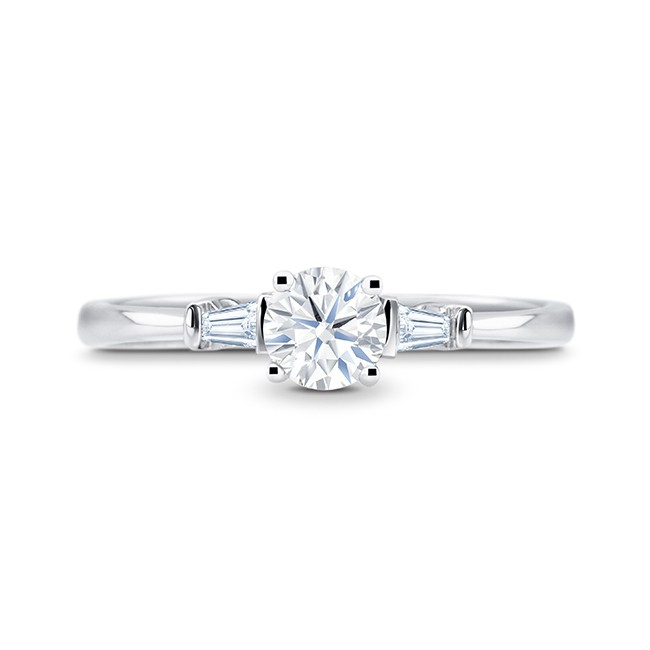 "Sortija ""Paris"" oro blanco y diamantes"