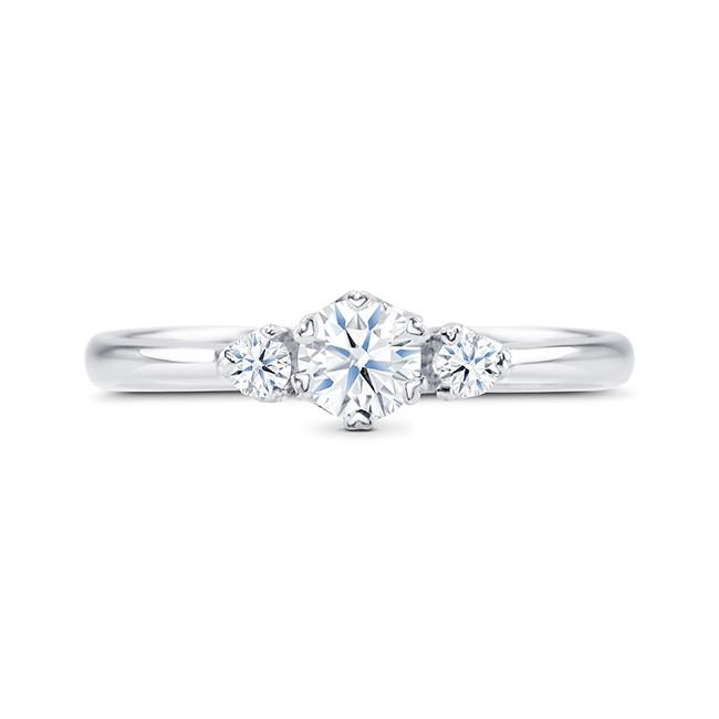 """Anillo """"SHALOSH"""" 3 Diamantes 0.32 cts oro blanco 18k"""