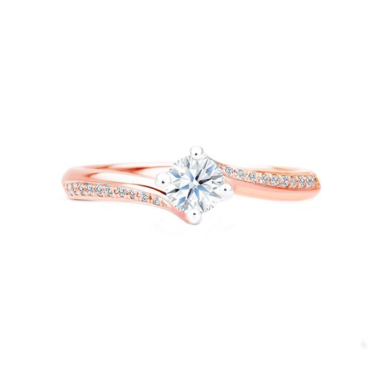 anillo brillante oro rosa arba b