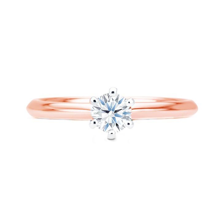 anillo clásico oro rosa hana