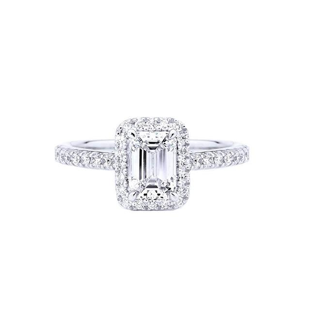 """Anillo """"Emerald"""" oro blanco y diamante"""