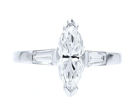 Sortija diamante Marquise - SCE 26