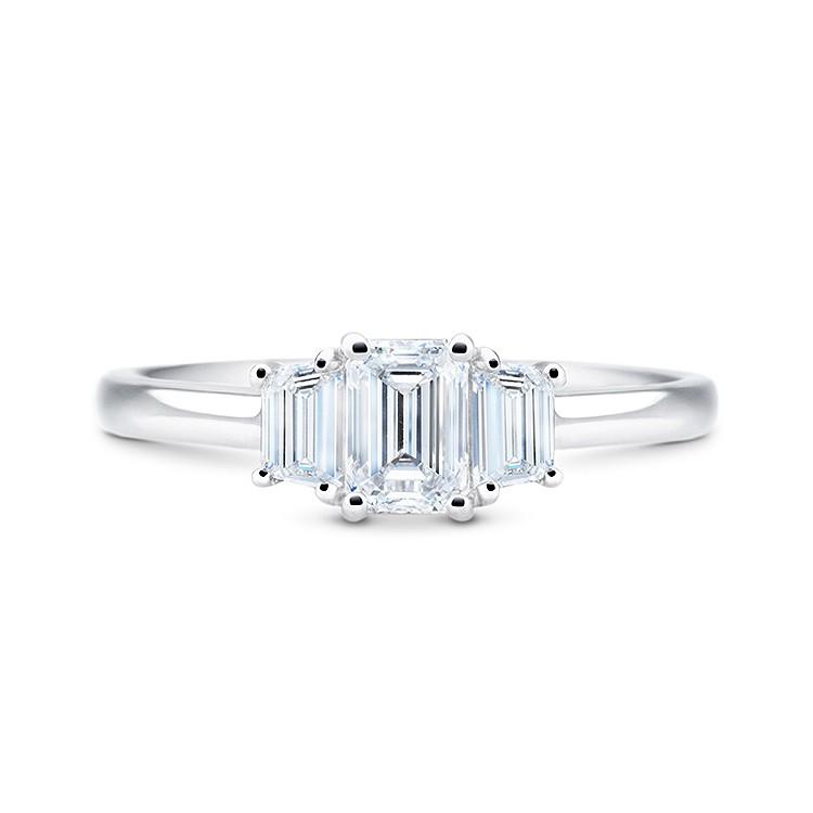 Anillo Diamante Corte Esmeralda ELEGANCE - SRC 23