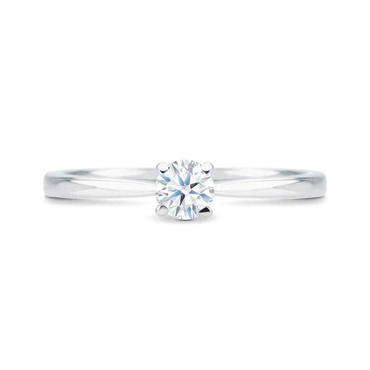 anillo solitario con diamante oro blanco VALENCIA SR 32