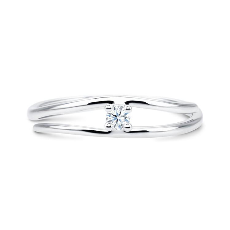 anillo solitario oro blanco y diamante fez SV8
