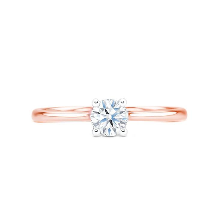 anillo solitario oro rosa pekin