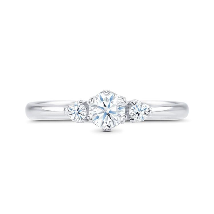 """Anillo con tres Diamantes de oro blanco """"SHALOSH"""""""