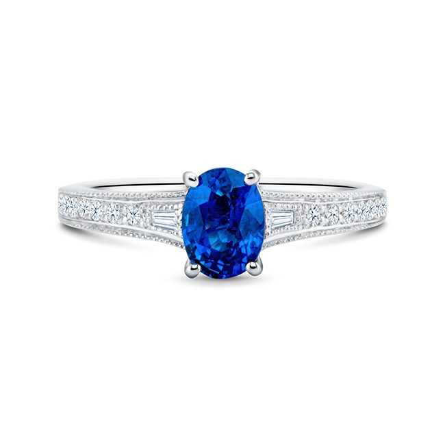 Anillo Zafiro y Diamantes BLUE LADY BIRD SRC 30 ZAF