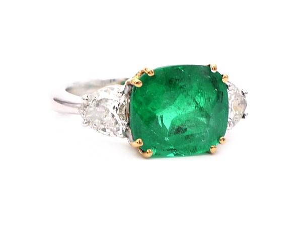 anillos esmeralda compromiso