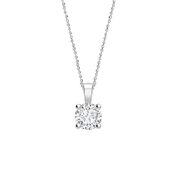 """Collar """"Midori """" con Diamante garra oro blanco - CR 1 OB"""