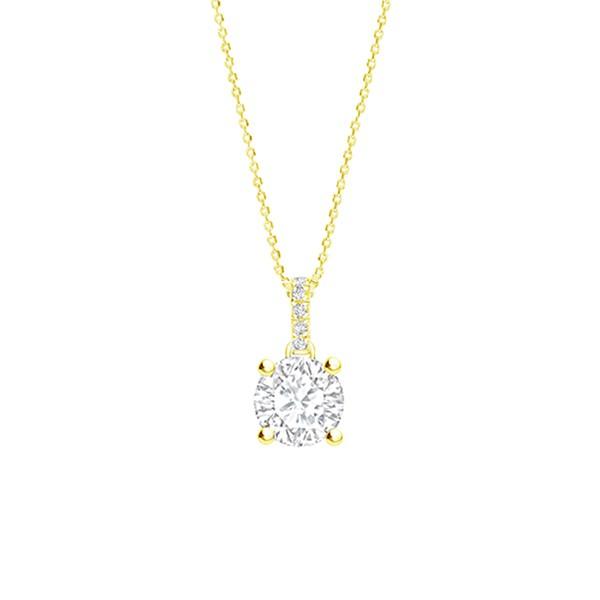 "Colgante ""Lucky 2"" Brillante Oro Amarillo - CR 12 OA"