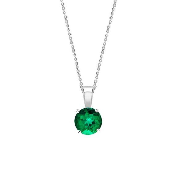 "Colgante esmeralda oro blanco ""Green Midori"" - CR 1 ESM"
