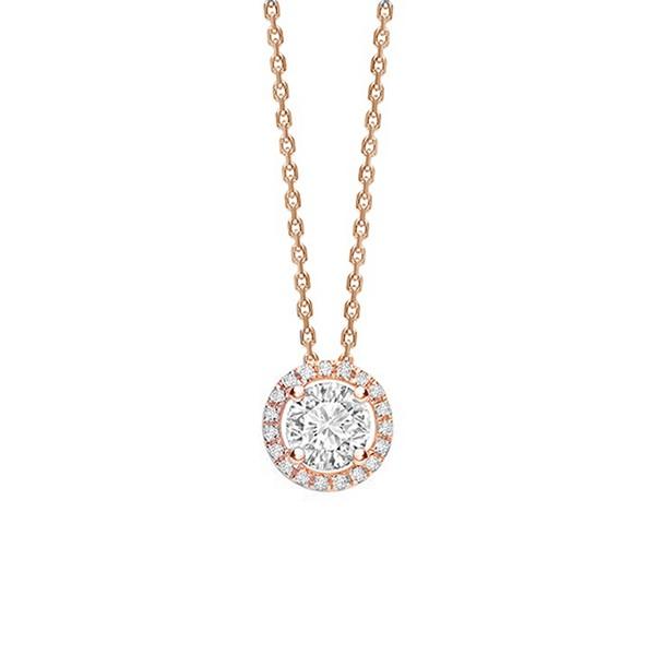 "Gargantilla con Diamantes y orla oro rosa "" Rose Sun"" - CR 5 OR"