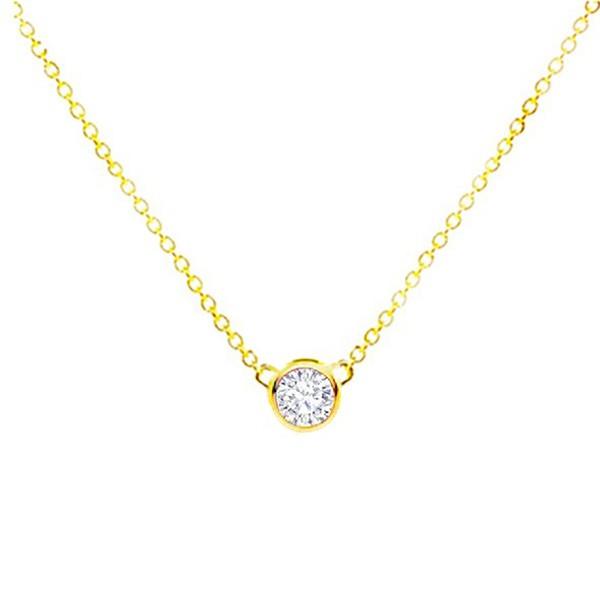 Colgante Oro Diamante chatón - CR 18 OA