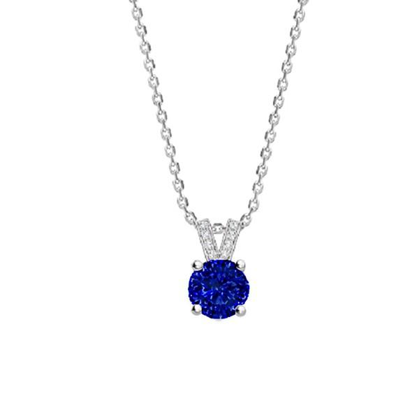 """Colgante Zafiro y Diamantes """"Blue Eiffel"""" oro blanco - CR 16 ZAF"""