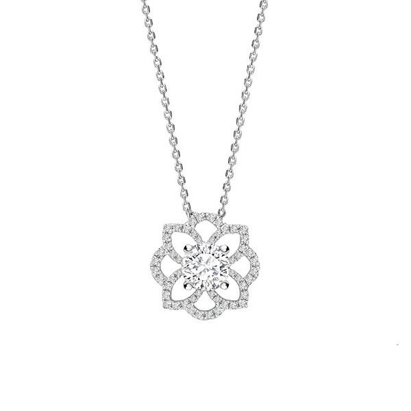 """Collar Forma de flor Brillantes """"Indira""""  - CR 14 OB"""