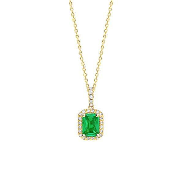 """Collar """"Green Splendor"""" en Oro 18K con Esmeralda y brillantes - CR 4 ESME"""