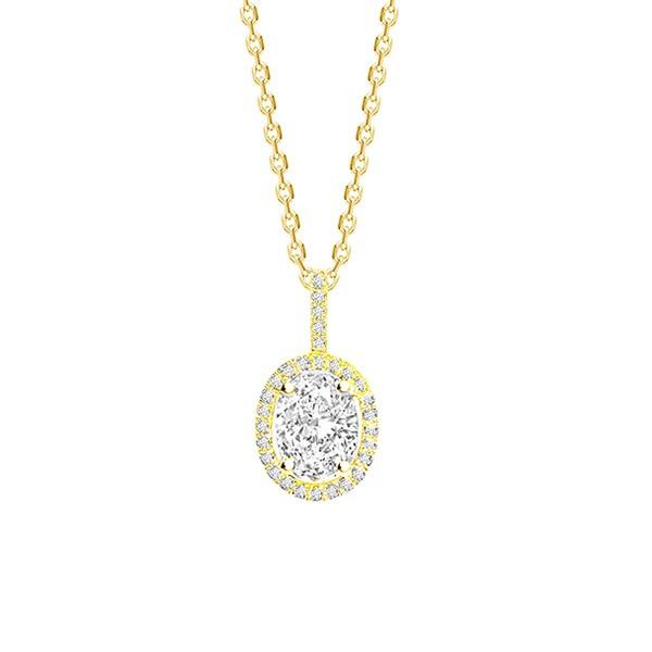 "Collar Oro"" Lady"" Diamante talla Ovalada - CR 8 OA"