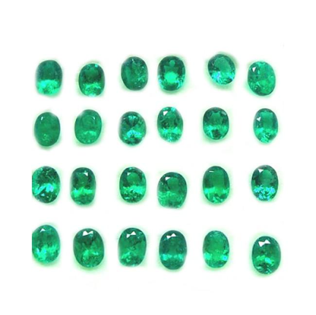 Esmeraldas ovales de 3 mm - Ref 445 -5,50