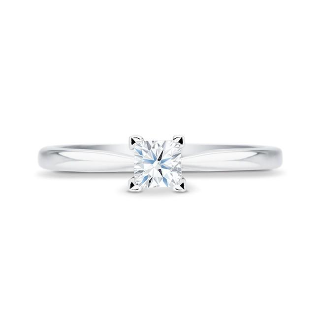 """Anillo de Compromiso """"Surya"""" oro y diamante de talla princesa, clásico y elegante"""