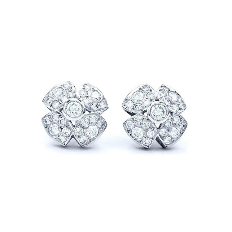 """Pendientes en forma de flor con Diamantes """"Honey"""" - PM 39"""