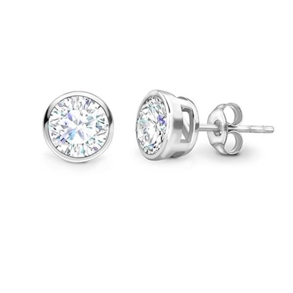 Pendientes Dormilonas en chatón con Diamantes PR 16