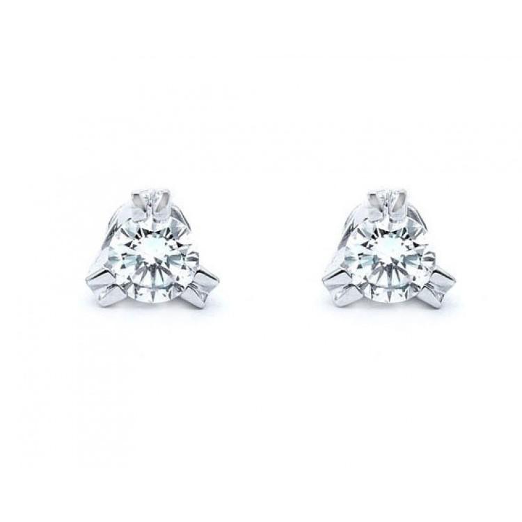 pendientes de diamante solitario