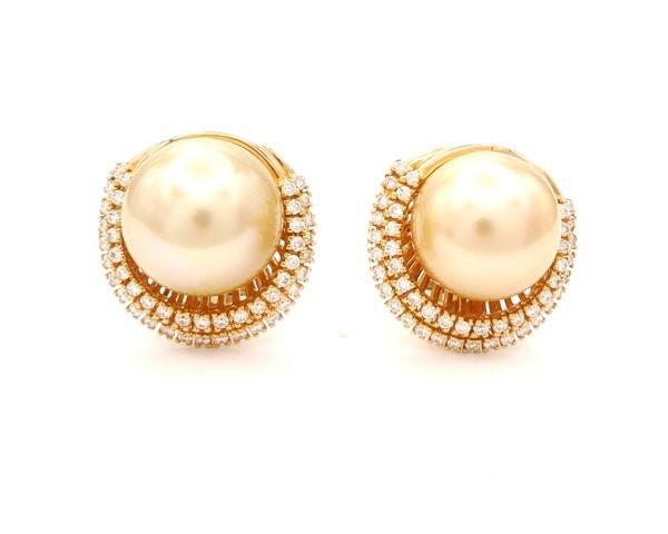 Pendientes Perlas Golden - PI 52
