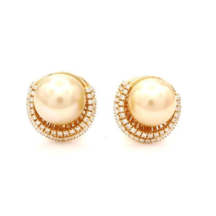 pendientes de perlas golden