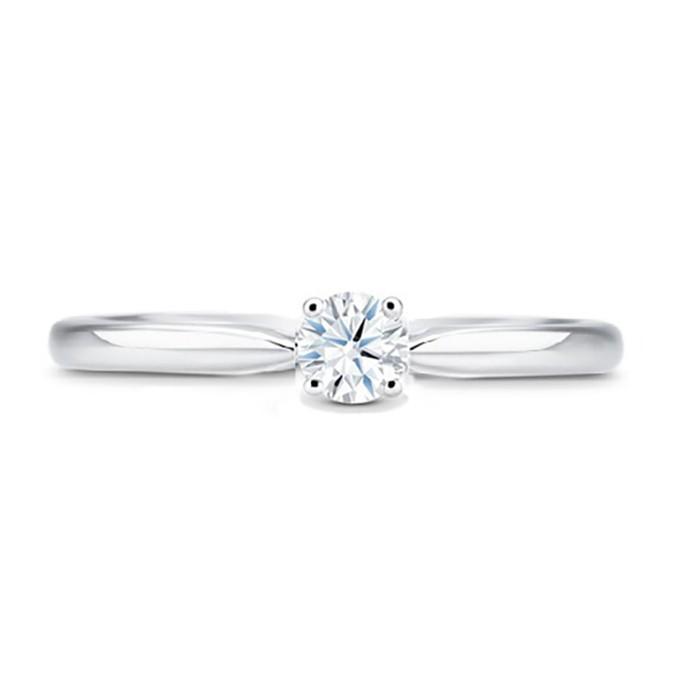 "Anillo de compromiso ""Nairobi"" oro Blanco y diamante 0.30 cts 4 garras"