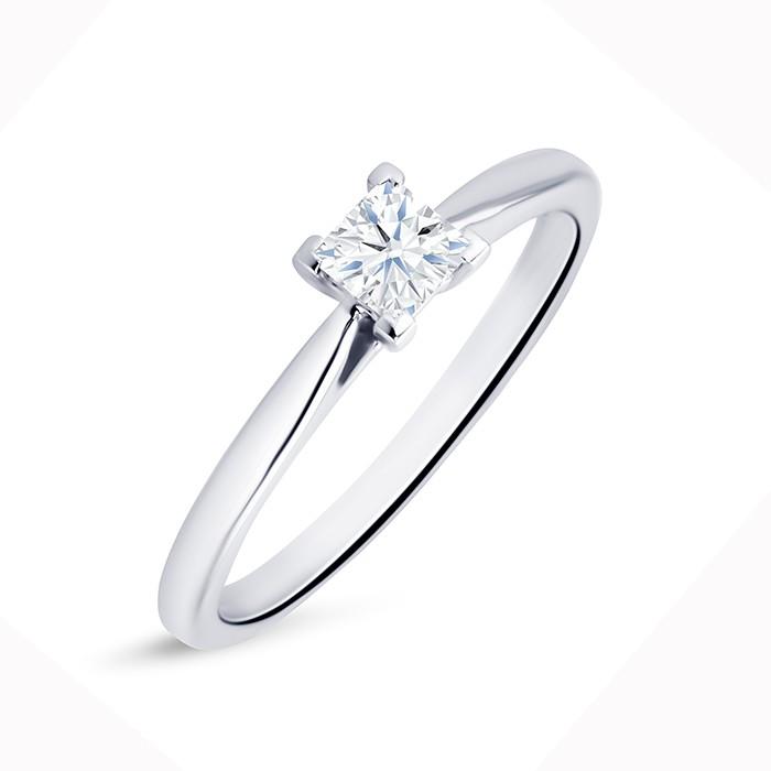 """Solitario """"Surya S"""" Oro Blanco 18k y diamante"""