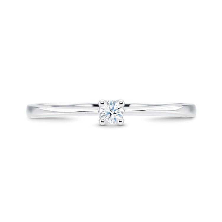 solitario oro blanco con diamante GALICIA SV3 4