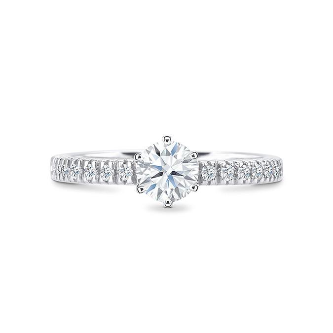 "Sortija ""JaipurStyle"" Oro 18k y diamantes 0.20 cts"