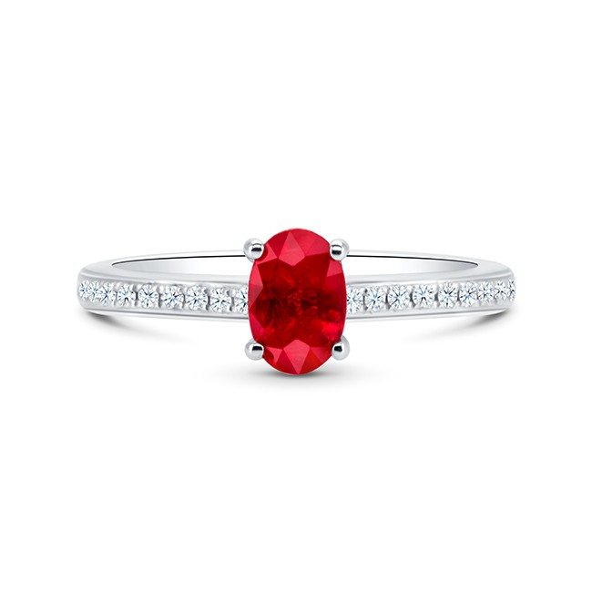 Sortija Rubí Diamantes RED CHANDRA - SR 93 RUBI