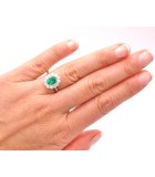 anillo esmeralda oval pedida mano