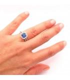 anillo blue dubai zafiro mano