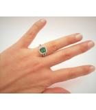 anillos pedida esmeralda