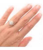 anillo mano diamante oval Bilbao