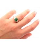 anillos esmeralda pedida mano diamantes