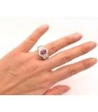sortijas de diamantes y rubi