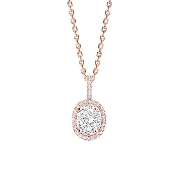 Gargantilla Oval Diamante Oro Rosa - CR 8 OR